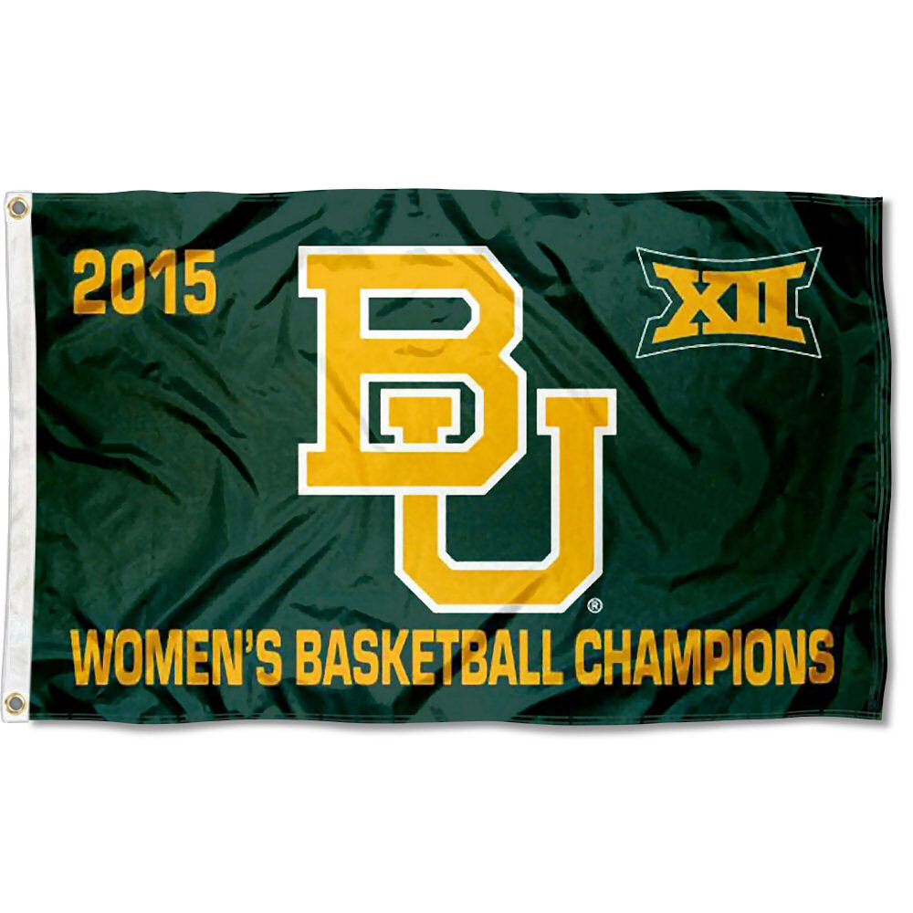 Baylor Bears Women's Big 12 Champs 3' x 5' Pole Flag