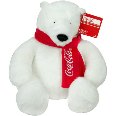 COCA-COLA 16IN PLUSH POLAR BEAR WITH - Fierce Polar Bear