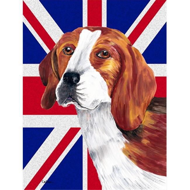 Carolines Treasures SC9826GF Beagle With English Union Jack British Flag Flag Garden Size - image 1 of 1