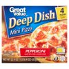 Great Value Pepperoni Pizza, Deep Dish, Mini, 22.4 oz, 4 Count