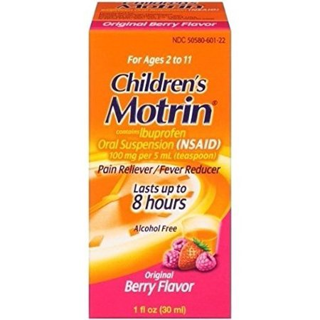 Motrin Children's Pain Reliever and Fever Reducer, Original Berry, 1 Fluid Ounce