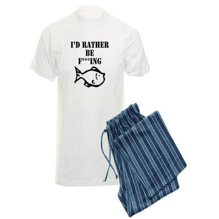 8a2b52a152 CafePress - CafePress - Id Rather Be Fishing Pajamas - Men s Light Pajamas  - Walmart.com