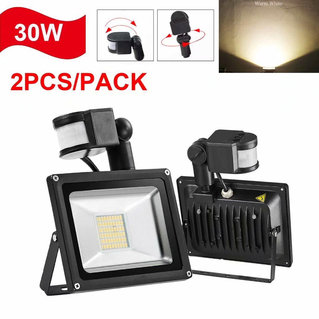 Clearance LED!LED Flood Light With PIR Motion Sensor 20W 30W Spot Lamp