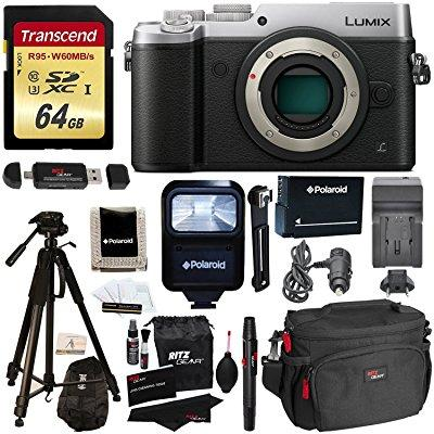Panasonic DMC-GX8SBODY LUMIX GX8 Interchangeable Lens DSLM Camera Body Only + Transcend 64 GB High Speed +... by Panasonic