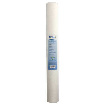 P25-20 20 Micron 20 x 2.5 Spun Wound Polypropylene Sediment Pentek Replacement Water Filter, Fits standard 20 x 2.5 inch filter housings By Tier1
