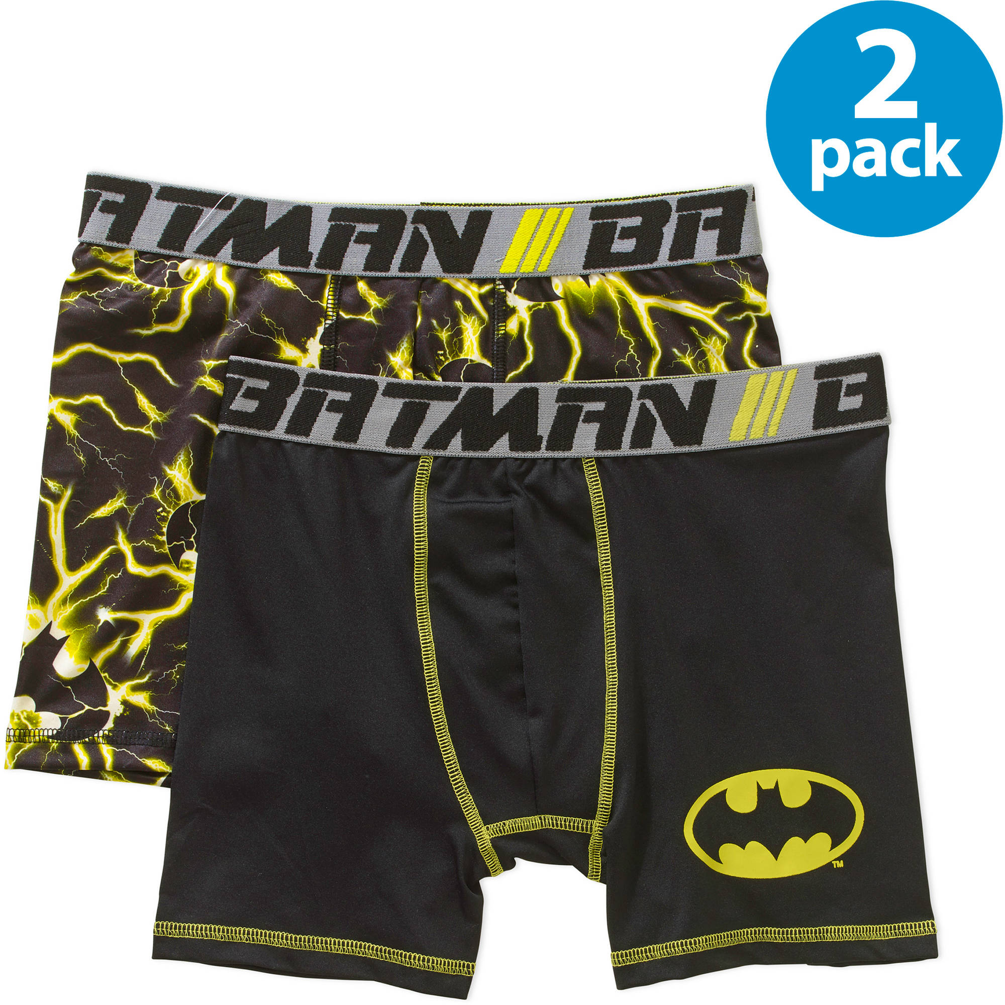 DC Comics Batman Boys' Boxer Brief, 2-Pack