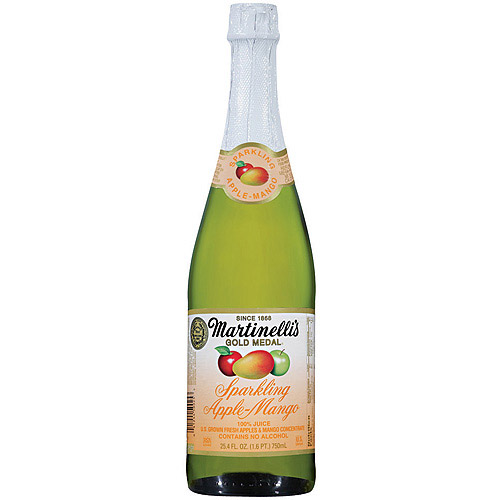 Martinelli's Gold Medal Sparkling Apple-Mango Juice, 25.4 oz (Pack of 6)