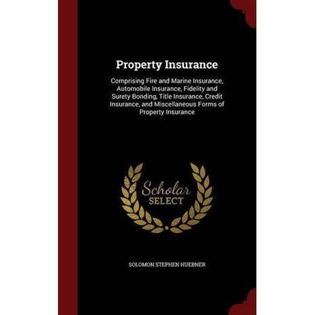 Property Insurance  Comprising Fire And Marine Insurance  Automobile Insurance  Fidelity And Surety Bonding  Title Insurance  Credit Insur