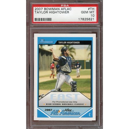2007 Bowman Aflac  Th Taylor Hightower Rockies Rookie Psa 10