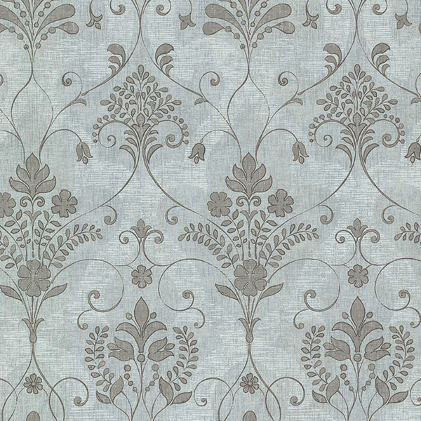 Beacon House Andalusia Blue Damask Wallpaper