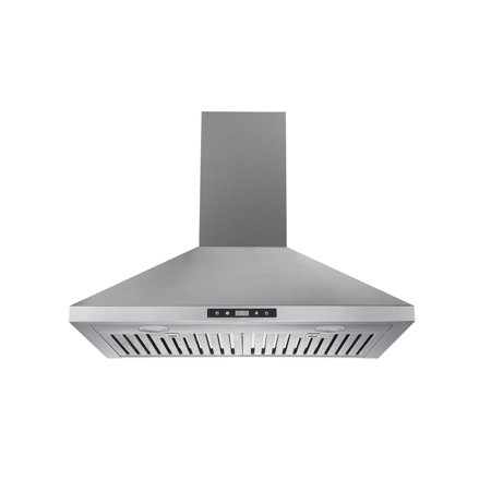 "Trifecte 30"" Wall-Mounted Ducted Range Hood in Stainless Steel with Baffle Filters"