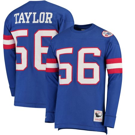 check out a8ca8 4df73 Lawrence Taylor New York Giants Mitchell & Ness Throwback Name & Number  Long Sleeve T-Shirt - Royal