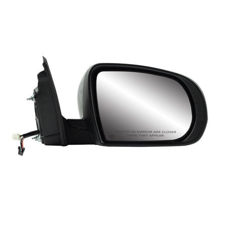 60225C - Fit System Passenger Side Mirror for 14-18 Jeep Cherokee, code GUU, txt black w/ PTM cover, turn signal, puddle lamp, foldaway, w/o memory, w/o blind spot detection system, Heated Power