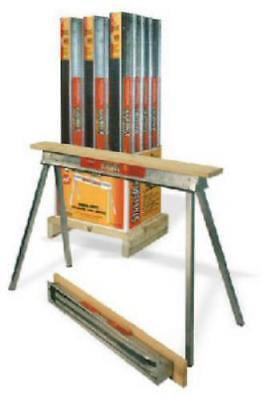 "30"" Heavy Duty Galvanized Steel Construction Sawhorse by"