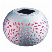 SINTECHNO Solar Powered Ceramic Bowl Lamp with Color Changing LED