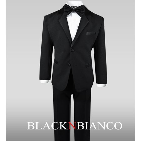 Black Tuxedo Suit Complete Outfit for Little Boys - Boy Suits For Cheap