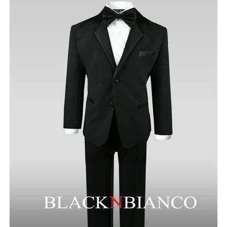 Black Tuxedo Suit Complete Outfit for Little Boys - Suits For Little Boy