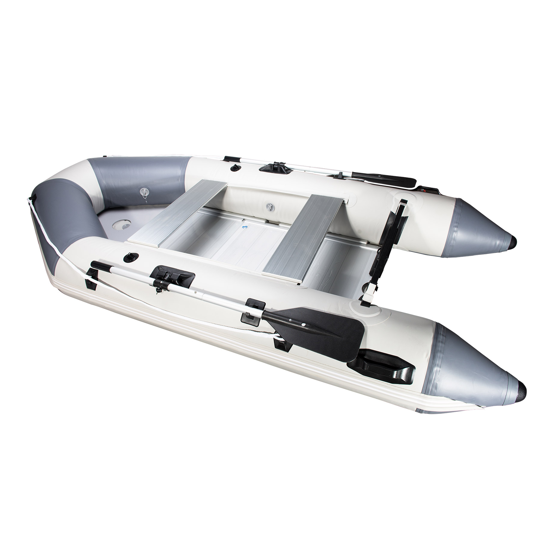 Premium PVC Recreational Fishing Inflatable Boat Dinghy 9.8 Feet Pneumatic Portable Boat