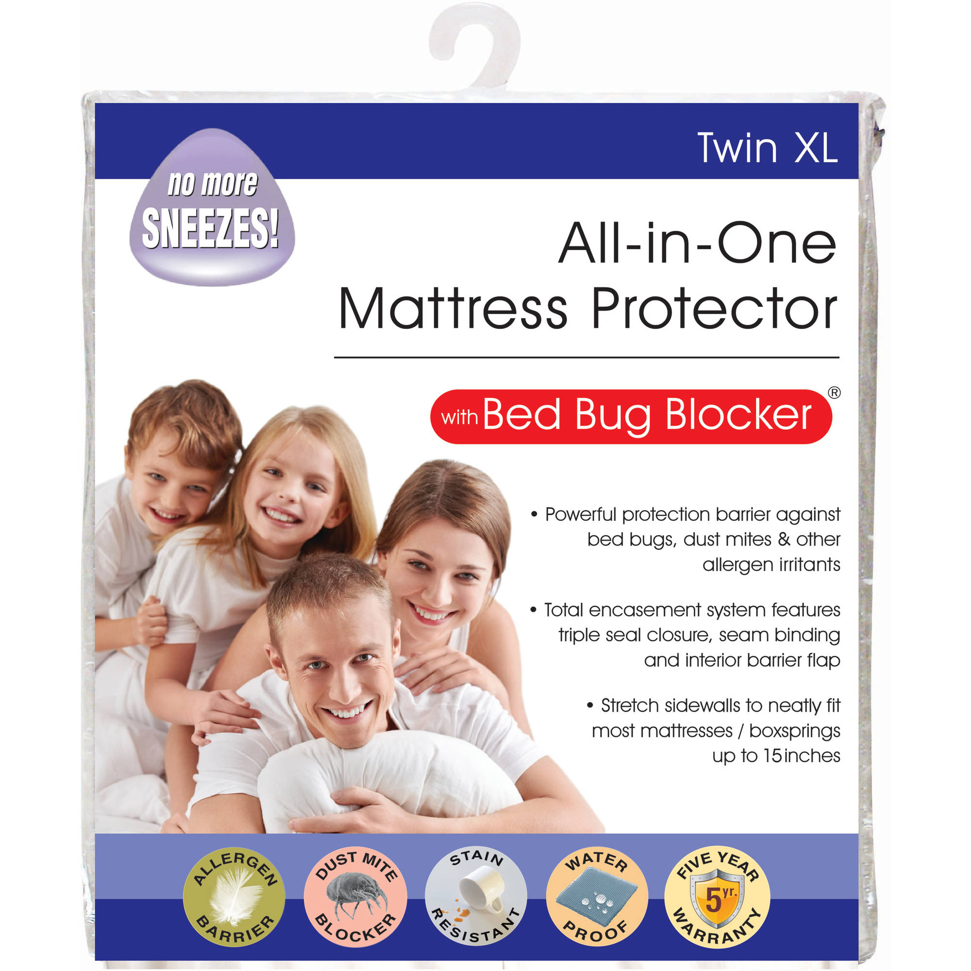 All-in-1 Bed Bug Blocker Mattress Protector, Twin XL by Levinsohn Textile Company