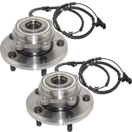 Pair Set Rear Wheel Hub Bearing Assemblies Replacement for Chrysler Town & Country Volkswagen -