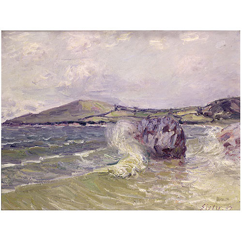 "Trademark Fine Art ""Lady's Cove Wales 1897"" Canvas Art by Alfred Sisley"