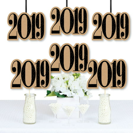 Bright Future - 2019 Graduation Decorations DIY Party Essentials - Set of 20 - Diy Graduation Cap Decorations