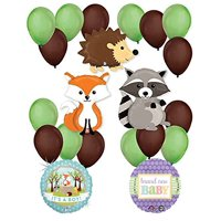 Woodland Critters Creatures Baby Boy Baby Shower Party Supplies Balloon Decorations