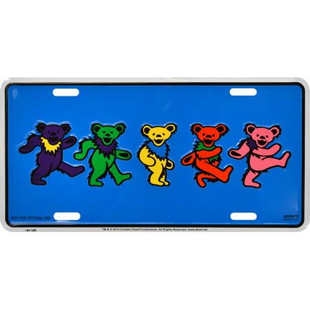 Grateful Dead Dancing Bears Metal License Plate