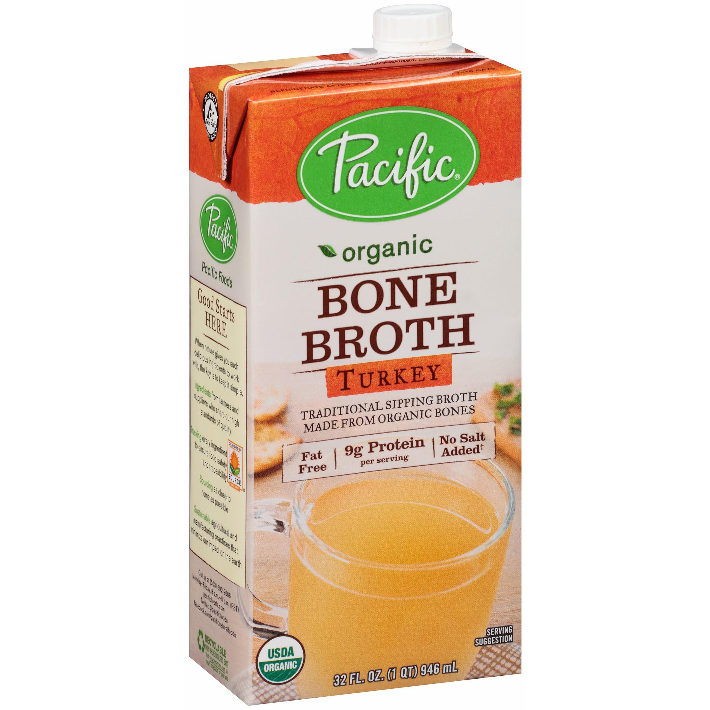 Pacific Foods Organic Bone Broth, Turkey, 32-Ounces