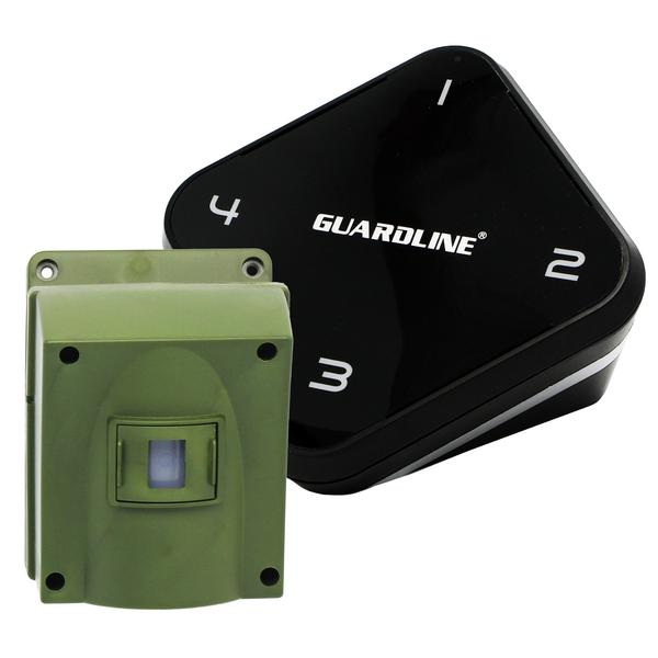 1/4 Mile Long Range Wireless Driveway Alarm. Professional Outdoor Motion Sensor & Detector Alert System