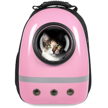 Traveler Bubble Window Backpack Pet Carrier for Cats and Dogs - Pink