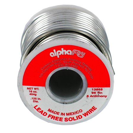 - Alpha Fry AM13955 1 lb 95/5 Spool Lead-Free Solid Wire Solder