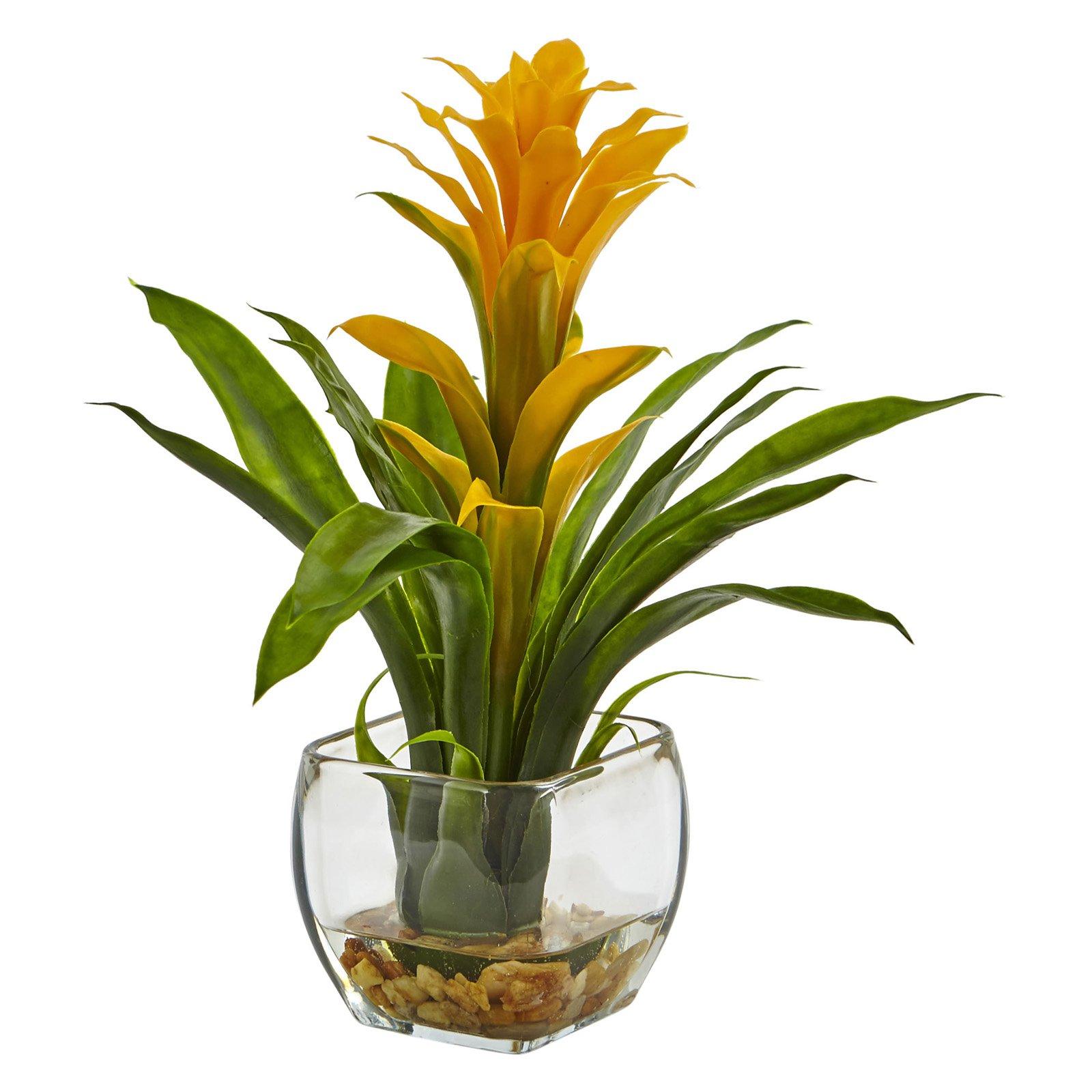 Nearly Natural Bromeliad Silk Plant
