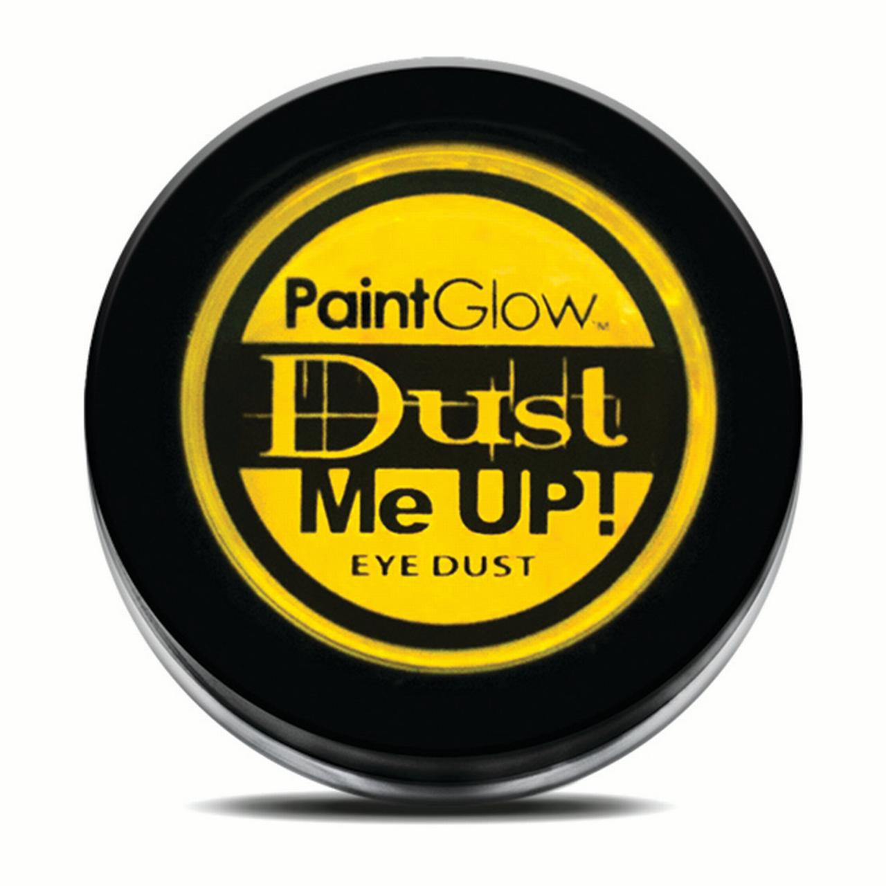 PaintGlow Dust Me Up Neon Glow UV Reactive 5g Eye Dust, Yellow