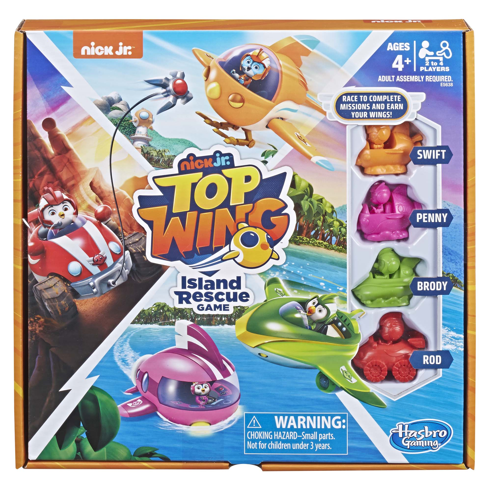 Top Wing Island Rescue Board Game, For Kids Ages 4 and up