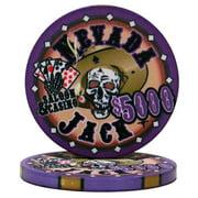 """Roll of 25 $5000 Nevada Jack 10 Gram Ceramic Poker Chip"" by BryBelly"