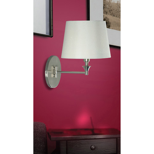 Kenroy Home Martin Wall Swing Arm Lamp, Brushed Steel