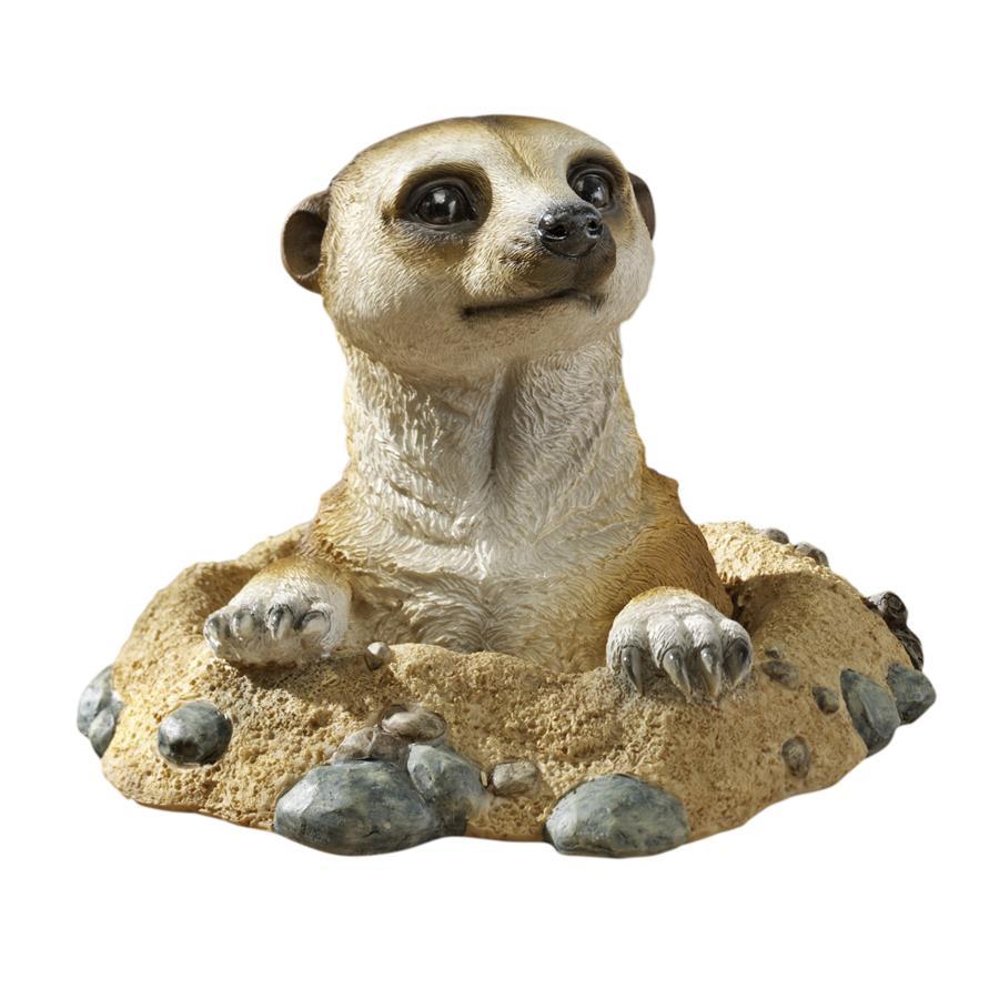 Design Toscano Kalahari Meerkat Statues: Out of Hole