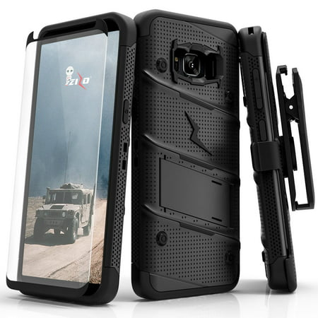 Galaxy Note 8 / S8 / S8 Plus Case, Zizo Bolt w/ Screen Protector and Holster (Price/1 Case)