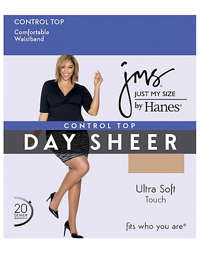 Control Top, Reinforced Toe Pantyhose 4-Pack