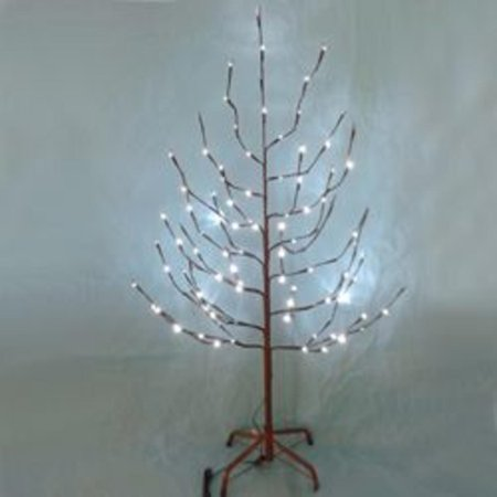 6' Pre-Lit Brown Twinkling Outdoor Twig Christmas Tree ...