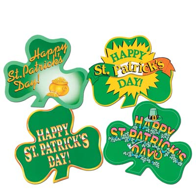 St Patrick's Day Shamrock Cutouts 16in