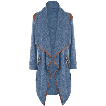 Womens Knitted Casual Long Sleeve Tops Cardigan Jacket Outwear Plus Size