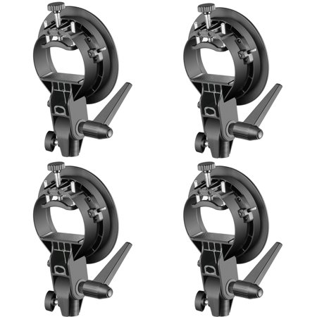 Neewer 4 Packs S-Type Bracket Holder with Bowens Mount for Speedlite Flash Snoot Softbox Beauty Dish Reflector (Flash Snoot)