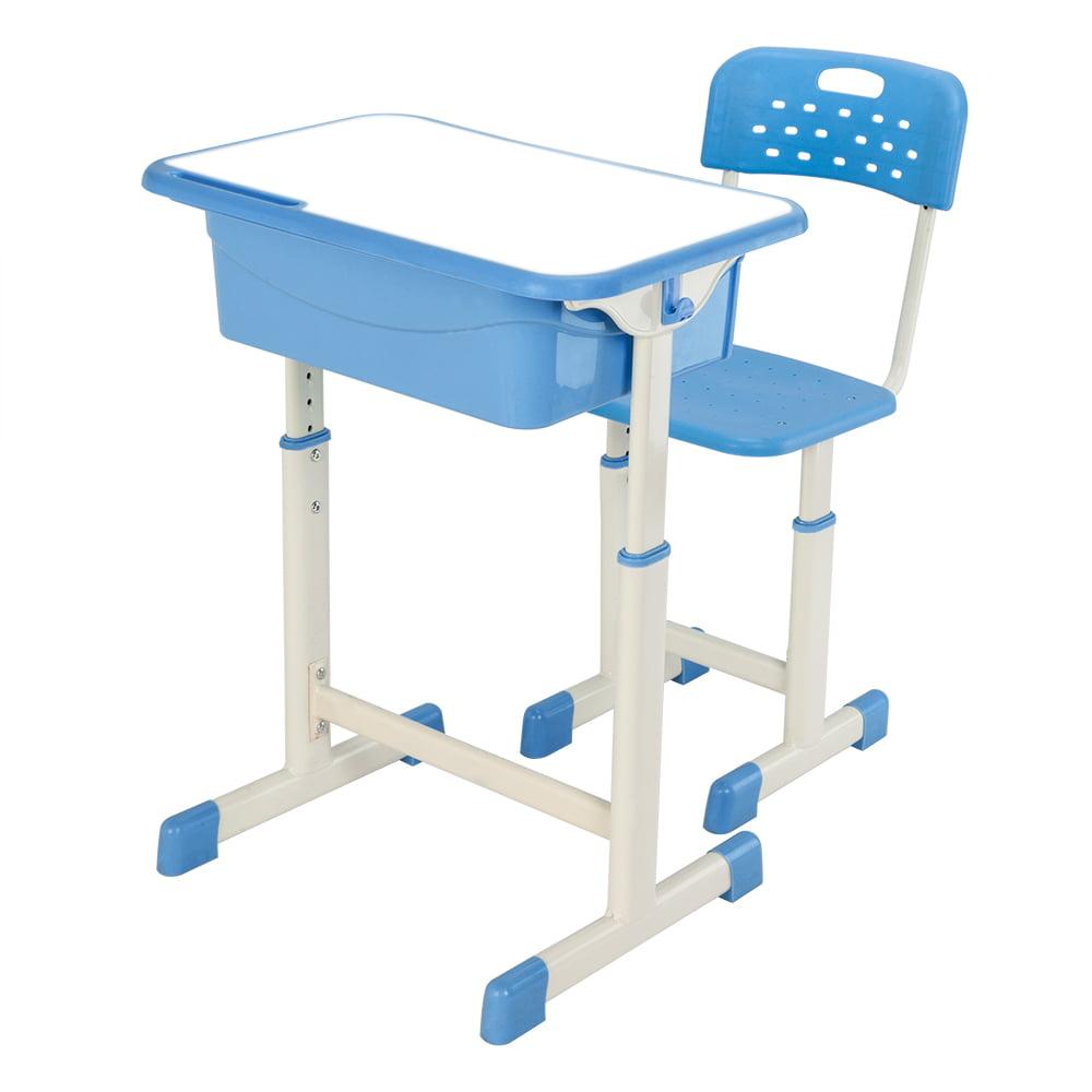 Zimtown High School Student Desk and Chair Set Adjustable Child Study Furniture Storage