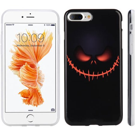 Apple Jacks Farm Halloween (Mundaze Apple iPhone 7 Plus Evil Jack Grin Halloween Phone Case,)