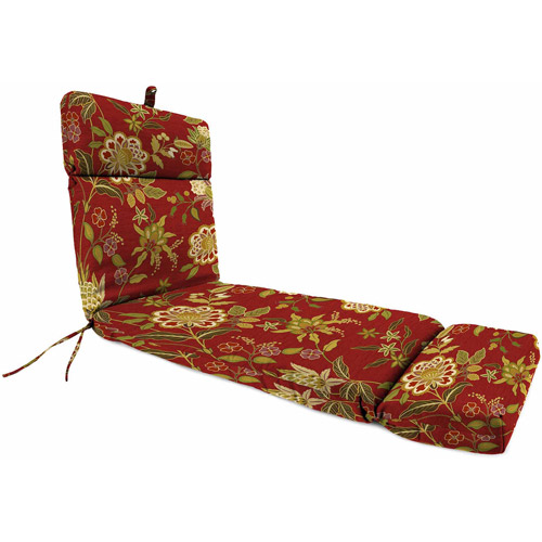Jordan Manufacturing Outdoor Patio - French Edge Chaise Cushion  sc 1 st  Walmart : chaise patio cushions - Sectionals, Sofas & Couches