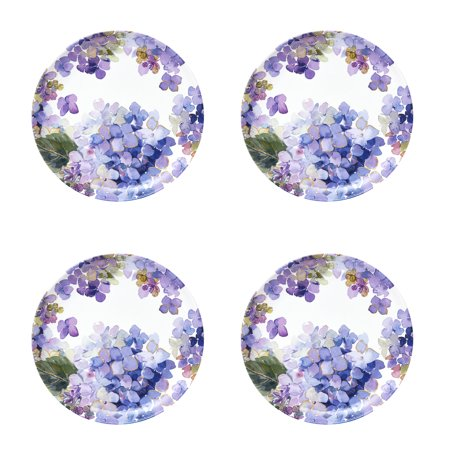 Better Homes & Gardens Hydrangea Purple Melamine Salad Plate, Set of (Anemone Salad)