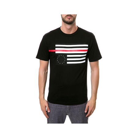 1488757c Black Scale Mens The Rebel Red Flag Graphic T-Shirt black L - image 1 ...