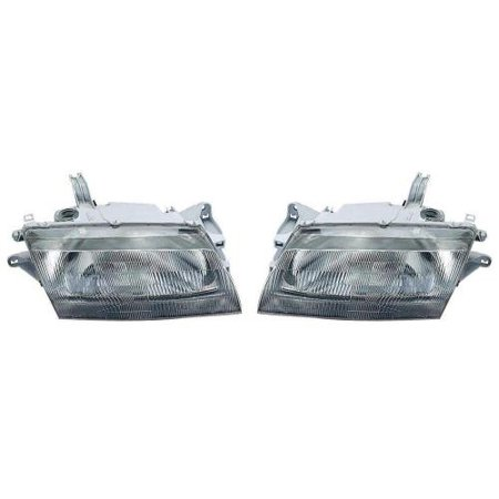 Go-Parts - PAIR/SET - OE Replacement for 1997 - 1998 Mazda Protege Front Headlightss Headlamps Assemblies Front Housing / Lens / Cover - Left & Right (Driver & Passenger) Side Replacement For) 1998 Mazda Protege Type